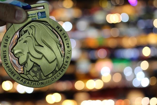 シンガポールマラソン完走メダル