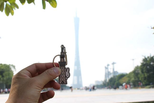 東京スカイツリーと広州塔