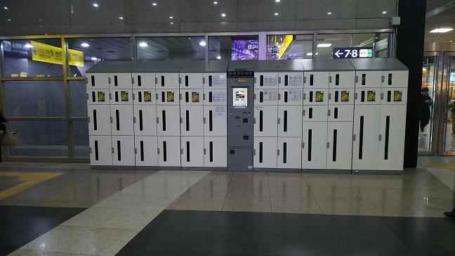 龍山駅のコインロッカー