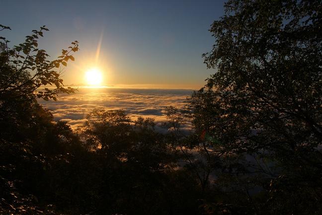 芦別岳 半面山 日の出