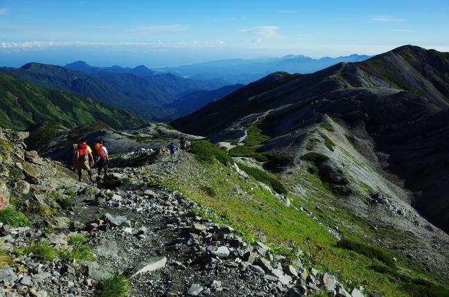 白馬岳の登山者