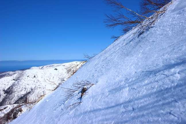 群別岳南西尾根標高点・1044付近