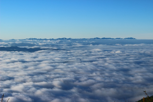 半面山から日高山脈