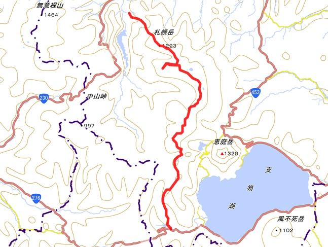 札幌稜線歩き