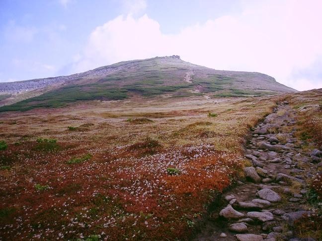 化雲岳への登り