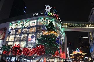 クリスマスの明洞