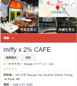 miffy ×2% CAFE 閉店