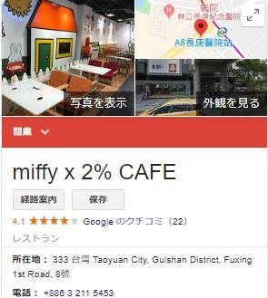 miffy ×2% CAFE 閉店