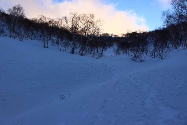奥徳富岳への登り