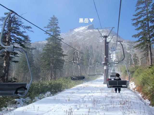大雪山系黒岳ペアリフト