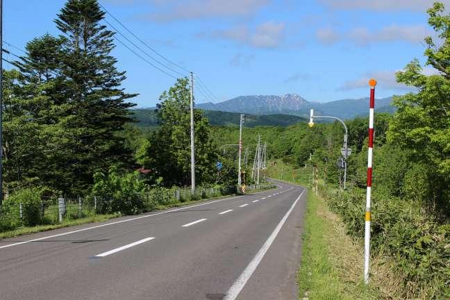 国道5号線から見た長万部岳