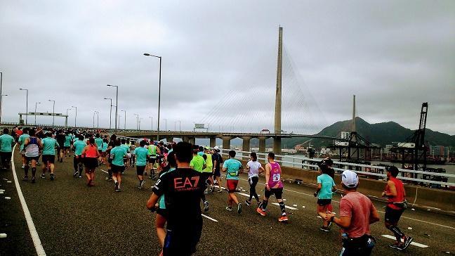 香港マラソン2019昴船洲大橋