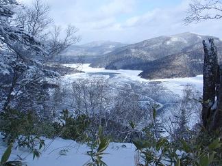凍結した然別湖