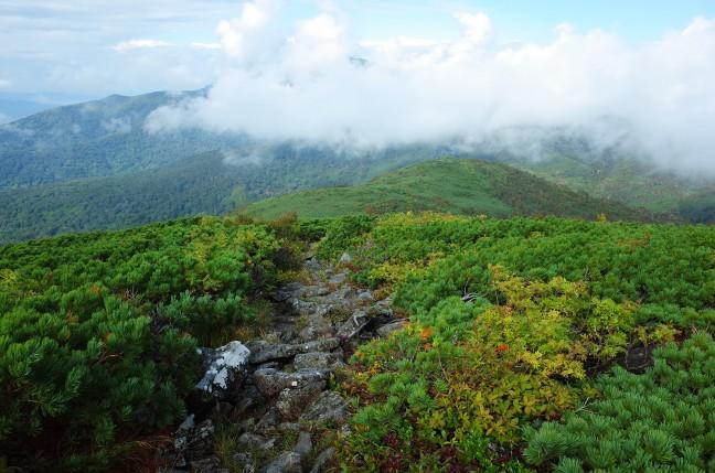 白樺山へと続くニセコ連山