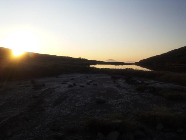 ヒサゴ沼の夕暮れ