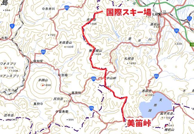 札幌の稜線