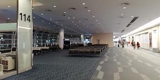 羽田空港国際線ターミナル114番ゲート