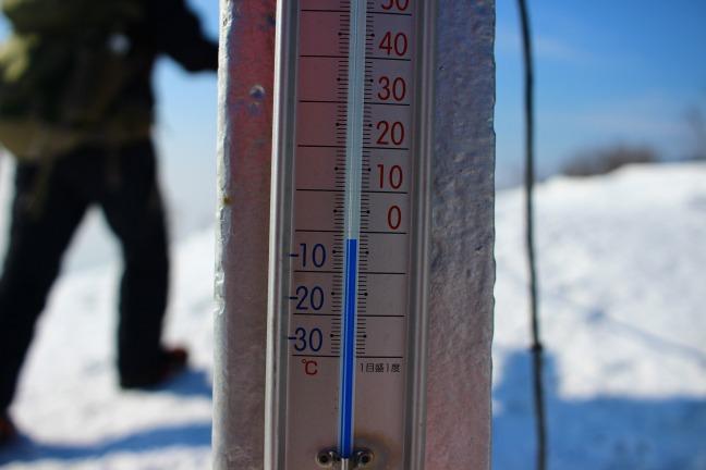 室蘭岳山頂温度計