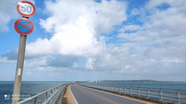 宮古島|エメラルドグリーンの海の上をランニング〈中編|伊良部大橋〉