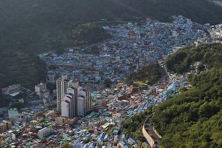 甘川文化村を上から見た