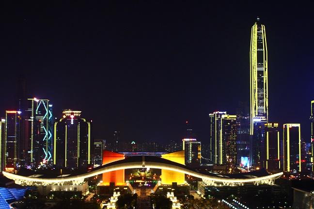 蓮花山公園深圳夜景イルミネーション
