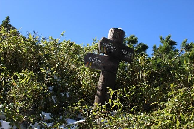富良野岳分岐