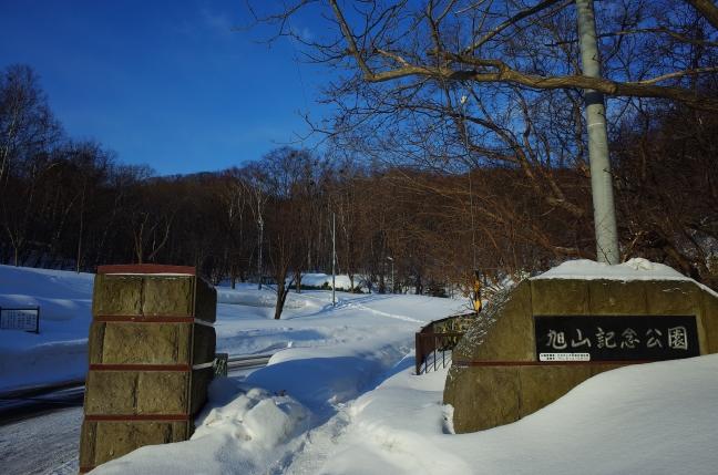 30分ちょっとで旭山記念公園の入口へ