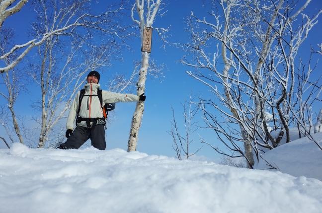 百松沢山雪山ハイク|平和霊園から北峰、峰越、阿部山(2月上旬)