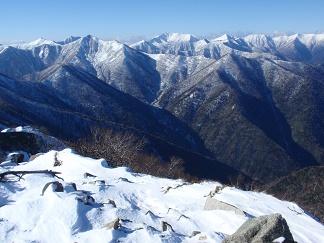 初冬の十勝幌尻岳