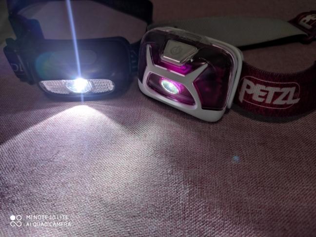 ヘッドライトの明るさの比較