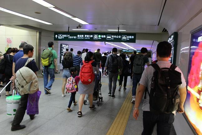 深圳駅到着時の流れ