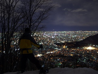 三角山の夜景