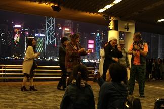 香港プロムナード尖沙咀夜景