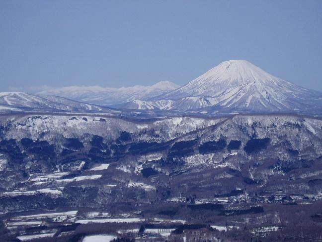 徳舜瞥山から見た羊蹄山やニセコ連山