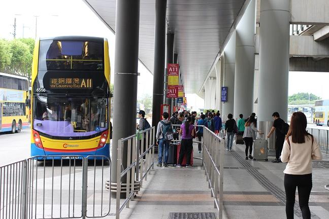 香港国際空港バス乗り場