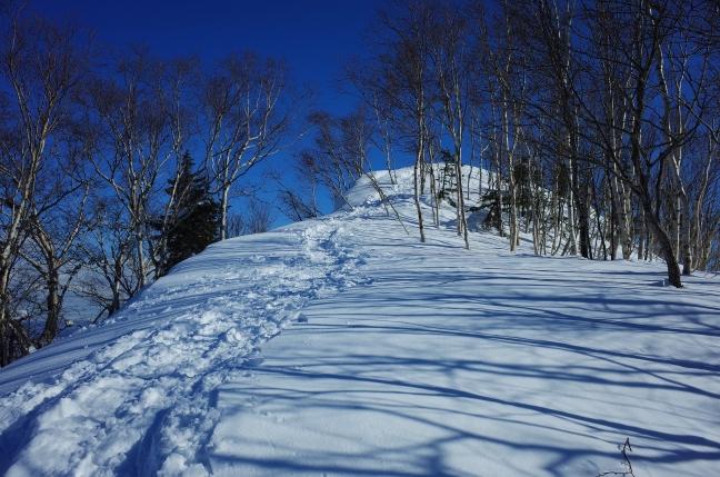 北峰からの縦走路に合流したら山頂はもうすぐ