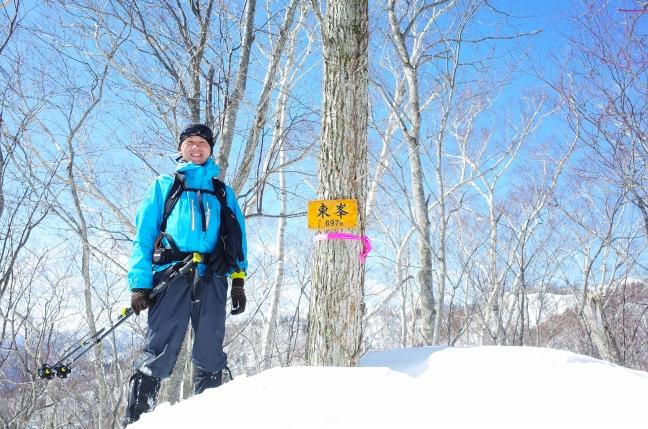 百松沢山雪山ハイク|小林峠から砥石山、東峯を越えて南峰へ(3月上旬)
