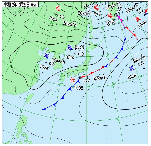 気象庁天気図