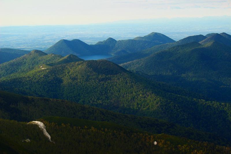 ウペペサンケ山から見た然別湖
