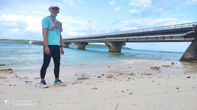 宮古島|エメラルドグリーンの海の上をランニング〈前編|来間大橋〉