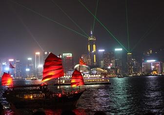 【香港旅行記】バンコクで空港野宿をして初めての香港へ|定番ビクトリアピークと尖沙咀からシンフォニーオブライツを楽しんで