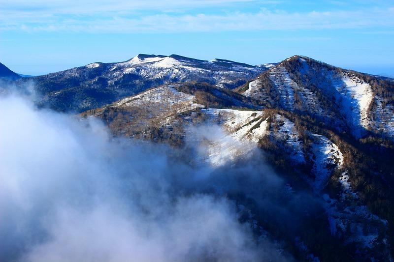 空沼岳と狭薄山