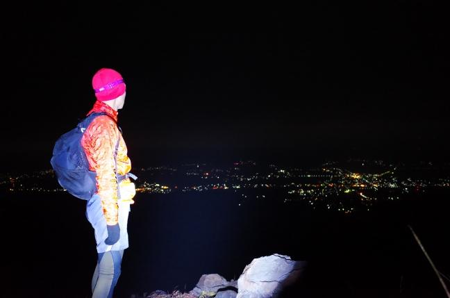 阿蘇高岳登山道から見た夜景