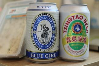 ブルーガール香港のビール