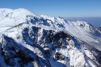 黒岳から愛別岳の眺め