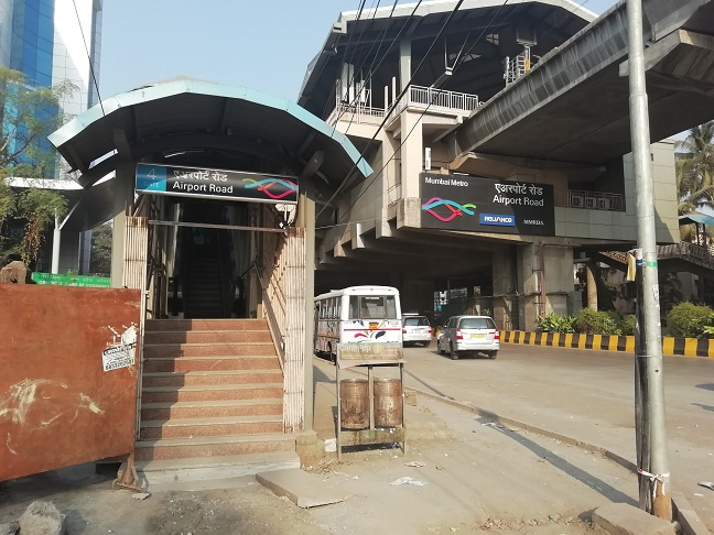 mumbai airport road station
