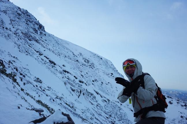 雌阿寒岳雪山ハイク|冬型の気圧配置で5合目で惨敗(2月上旬)