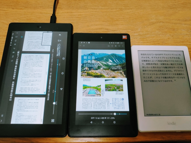 FireタブレットとKindle