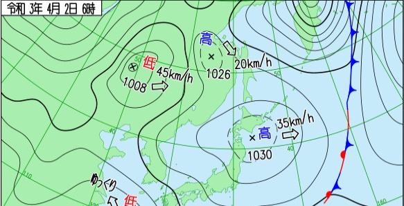 4月2日の天気図