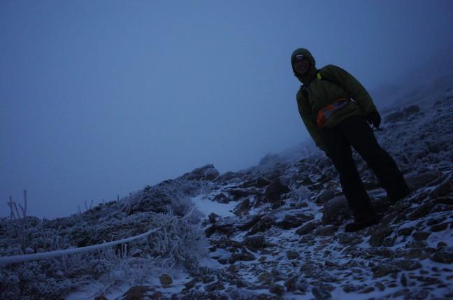 雪の早池峰山
